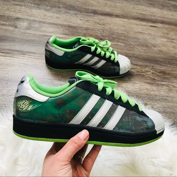Adidas limited edition Mountain Dew sneakers